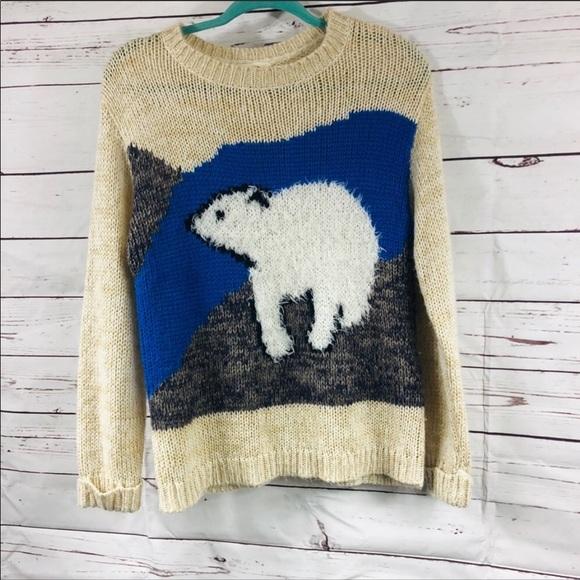Anthropologie Sweaters Pins Needles Polar Bear Sweater Uo Anthro M